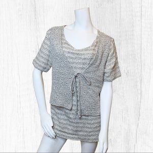 Hattie Carnegie heather sweater short sleeves